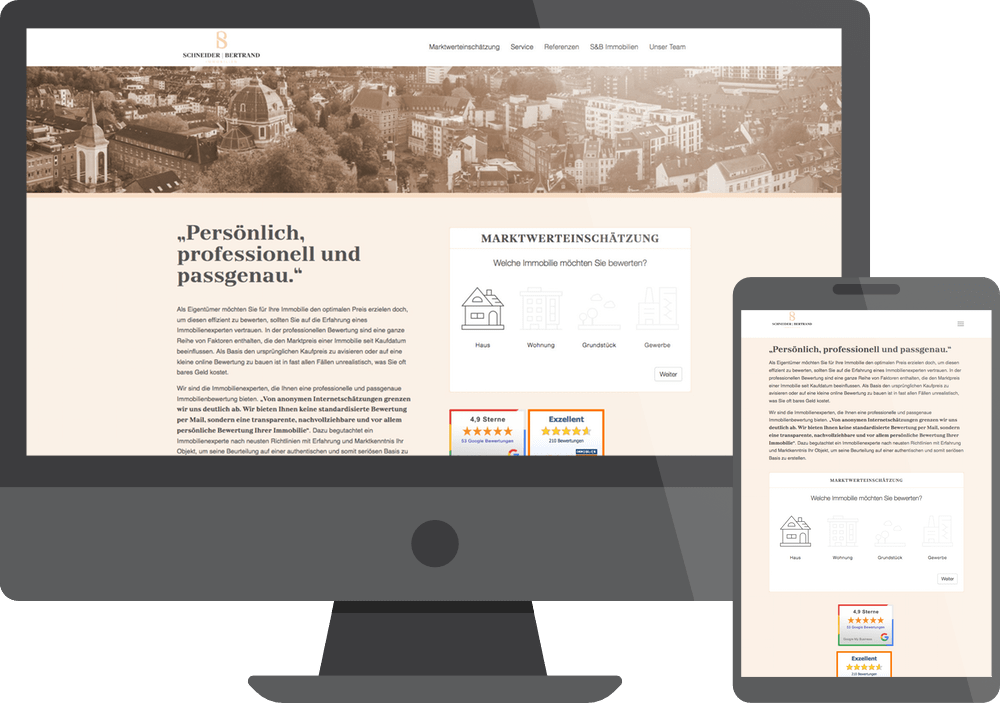 Referenz Webdesign SundB Immobilien