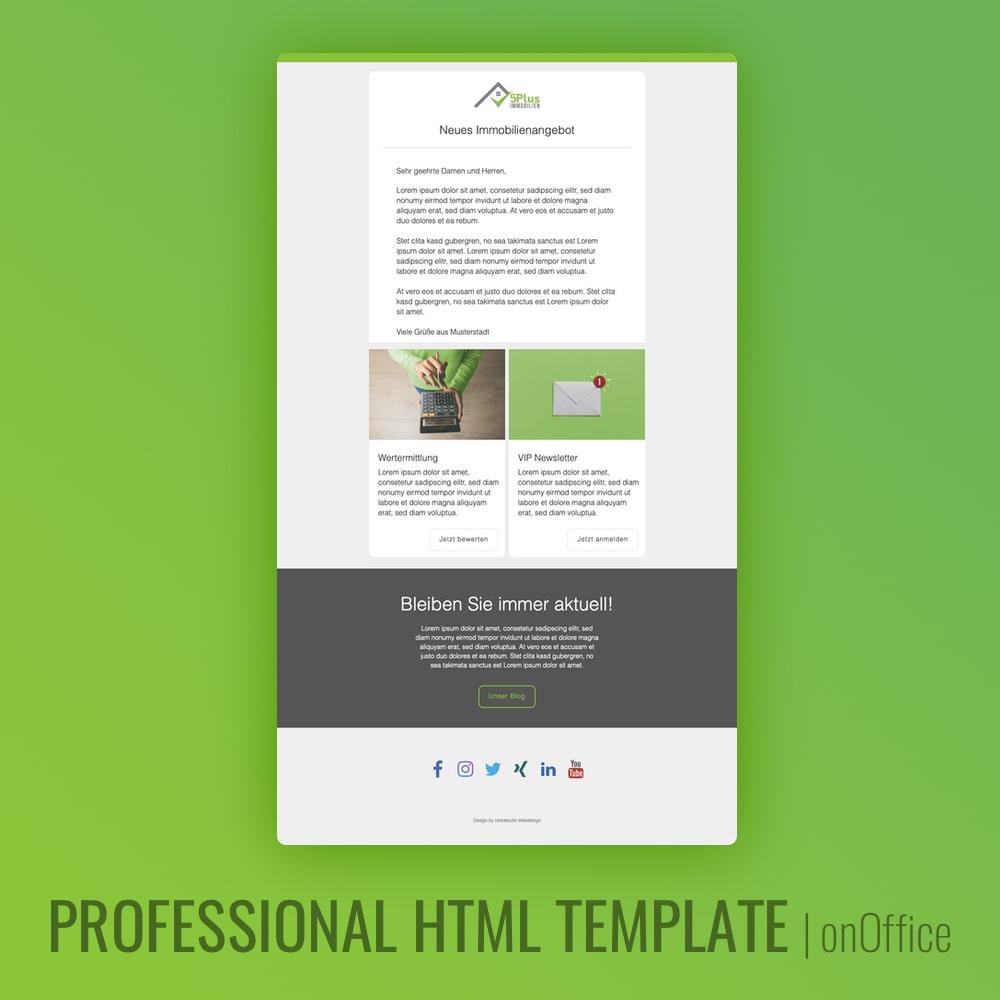 Immobilienmakler E-Mail HTML Template
