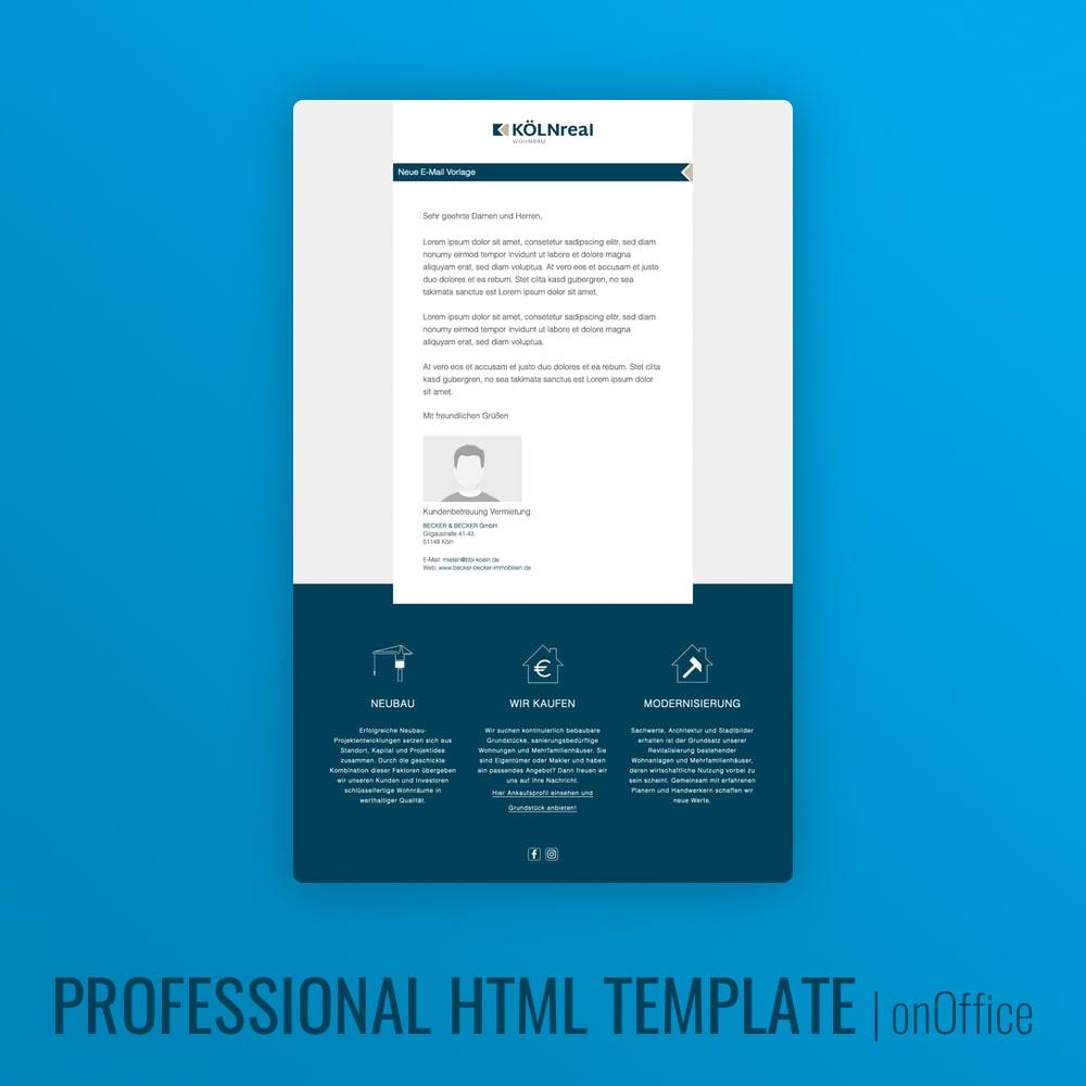 HTML Design E-Mail Vorlage