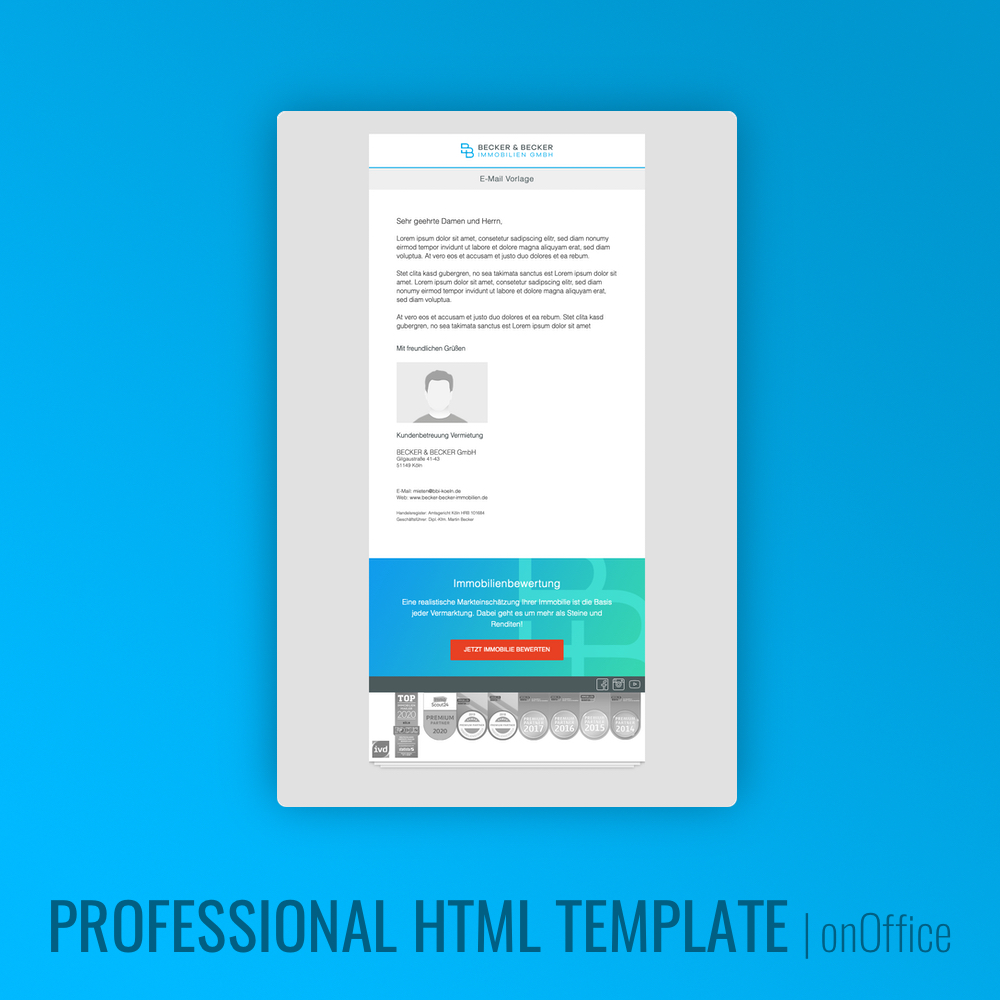 HTML E-Mail Template onOffice