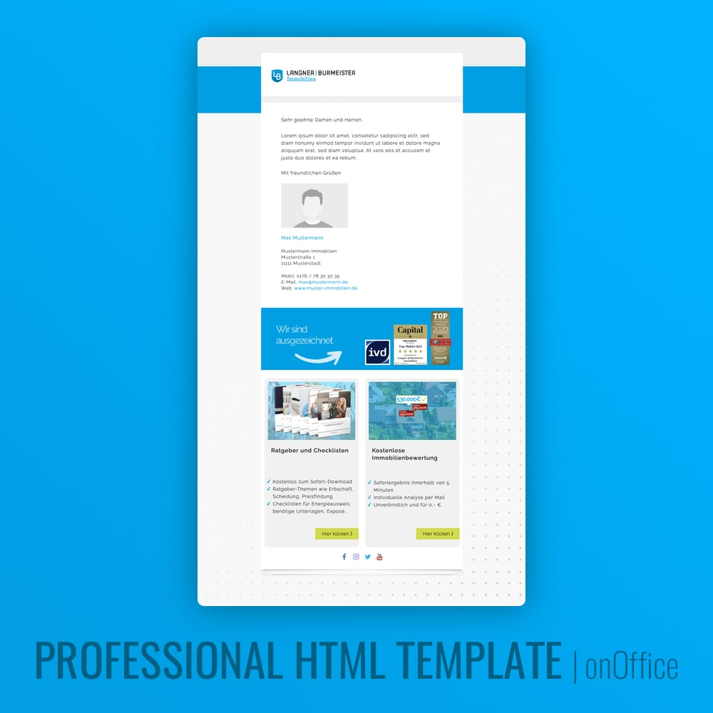 E-Mail Design HTML onOffice