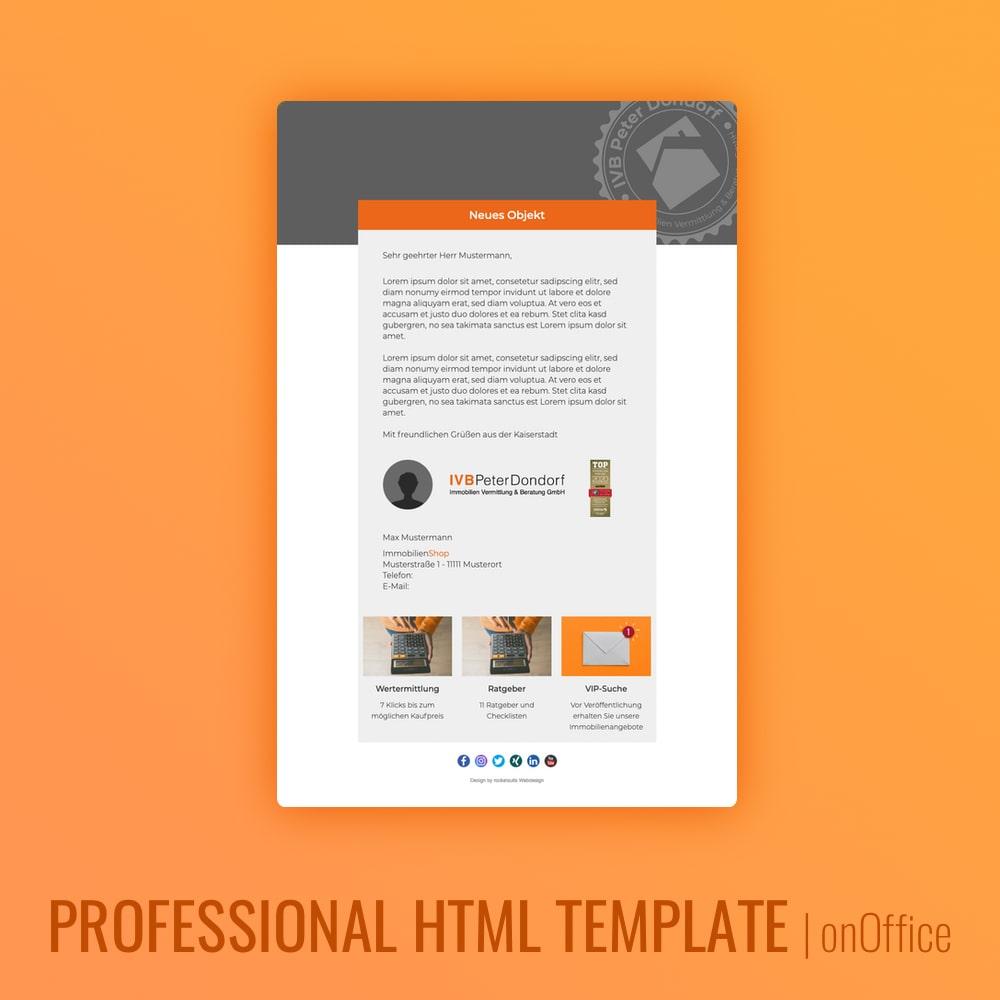 E-Mail Design onOffice Newsletter
