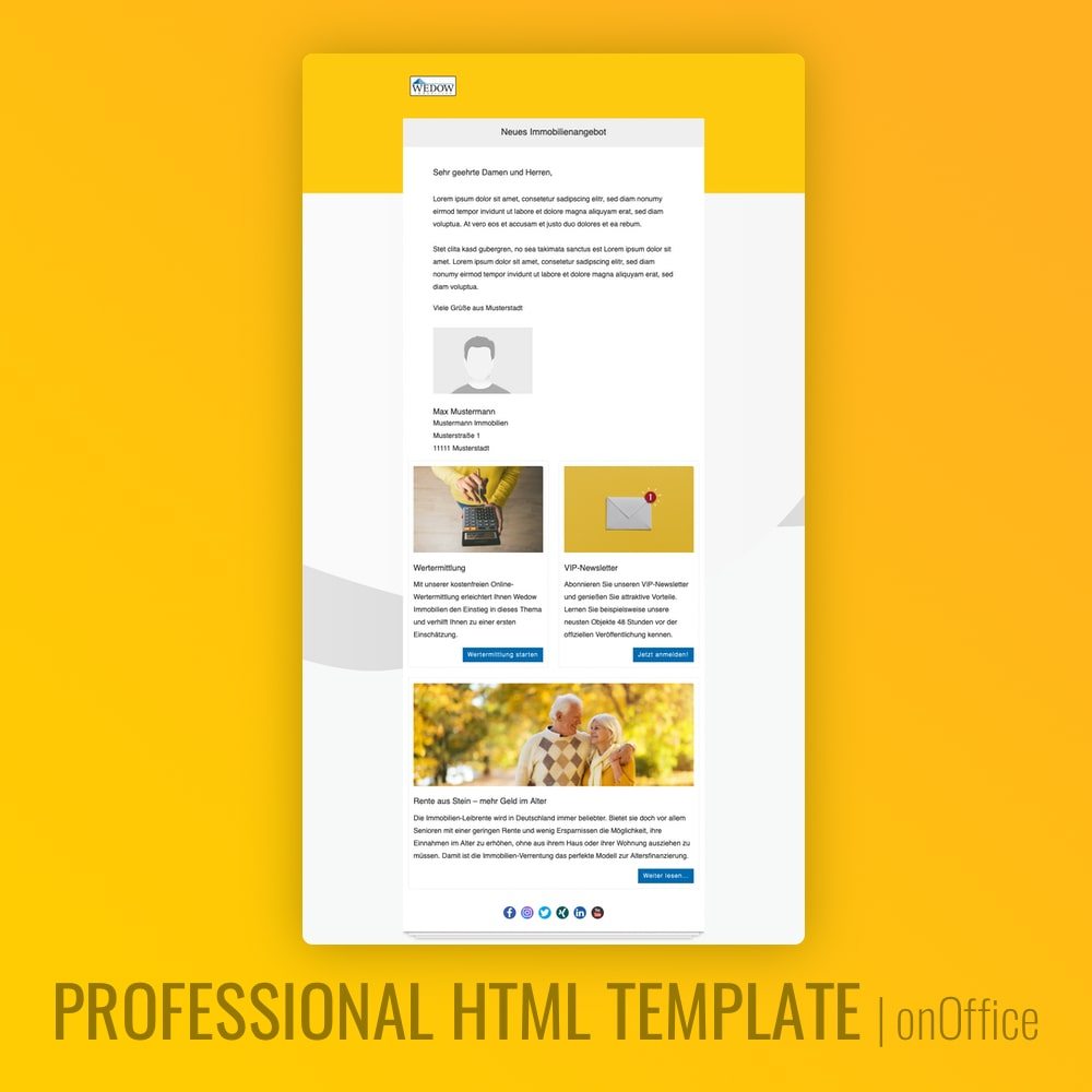 onOffice E-Mail Template HTML Immilienmakler